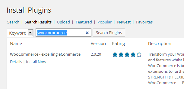 Install eCommerce Plugin