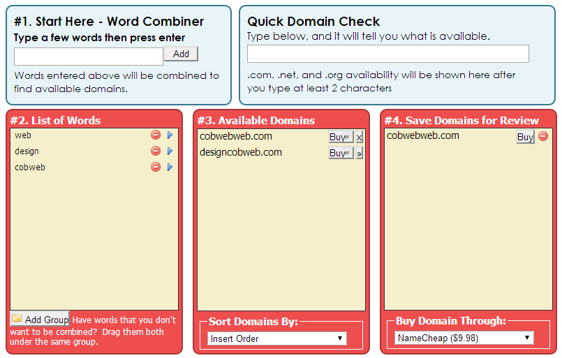 Tools for Getting Domain Name Ideas