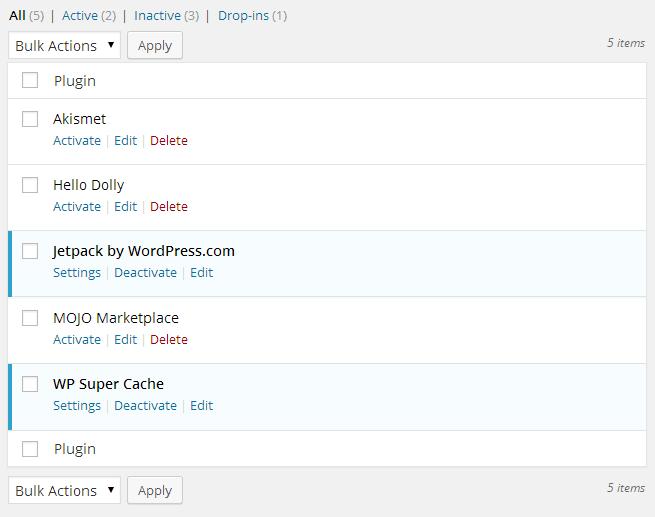 Essential Tasks Plugin List