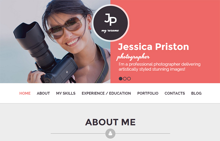 Photographer CV