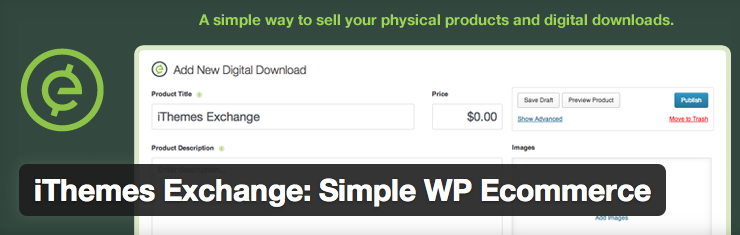 iThemes Exchange Simple WordPress ecommerce Plugin