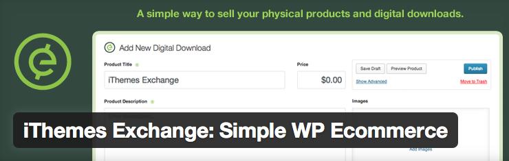 iThemes Exchange Simple WordPress ecommerce Plugin